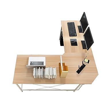 soges Scrivania per Ufficio Computer scrivania angolare Tavolo per  Computer, LD-Z01-MO
