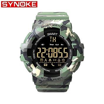 Smart watch Reloj Militar De Camuflaje, Reloj ElectróNico Inteligente para Los Entusiastas del Combate TáCtico