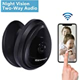Zenmach Mini Wifi Camera, Nanny Cam, Wireless Security IP Camera, Baby Pet Camera, Home Camera Indoor with Two Way Audio Night Vision Motion Detection
