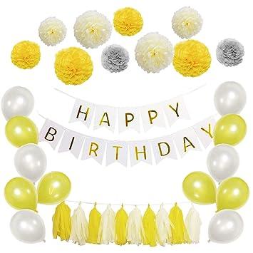 Set de decoración de feliz cumpleaños - Estandarte con ...