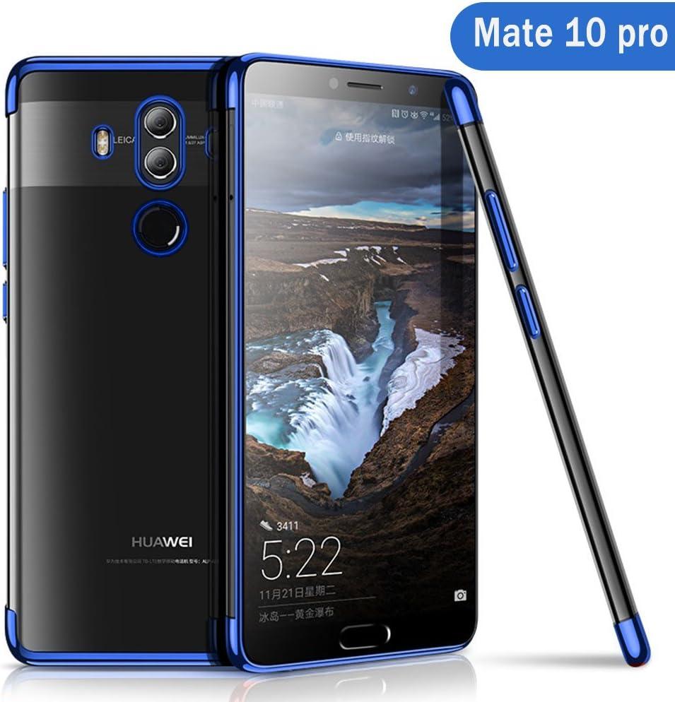 Huawei Mate 10 Pro Funda, AOLANDER Huawei Mate 10 Pro Carcasa Silicona Suave TPU Caso [Ultra Fina][Anti-Rasguño] [Protección a Bordes y Cámara] Bumper Slim Case Cover para Huawei Mate 10 Pro (Azul):