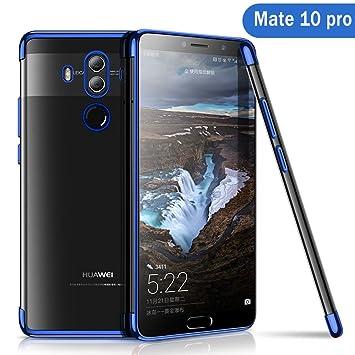 Huawei Mate 10 Pro Funda, AOLANDER Huawei Mate 10 Pro Carcasa Silicona Suave TPU Caso [Ultra Fina][Anti-Rasguño] [Protección a Bordes y Cámara] Bumper ...