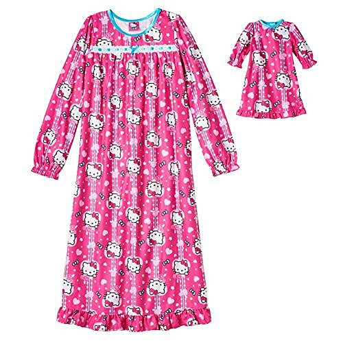 Hello Kitty Nightgown & Matching Doll Gown Set - Girls (4)
