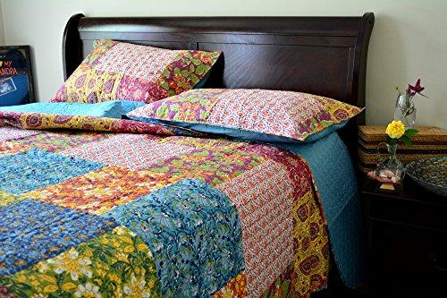 Tache 3 Piece Floral Spring Lakeside Garden Bedspread, Ca...