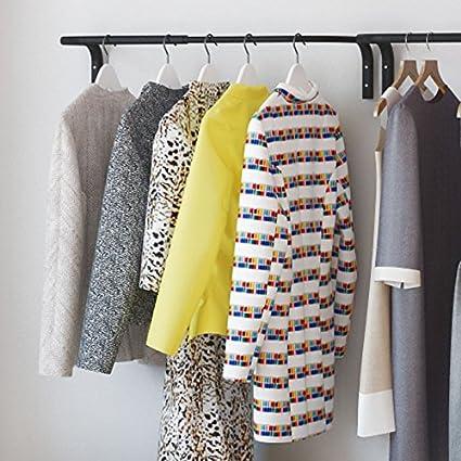 Clothes Bar, Adjustable Width Multi Purpose Wall Hanging Closet Organizer  Rack Display, Durable Steel