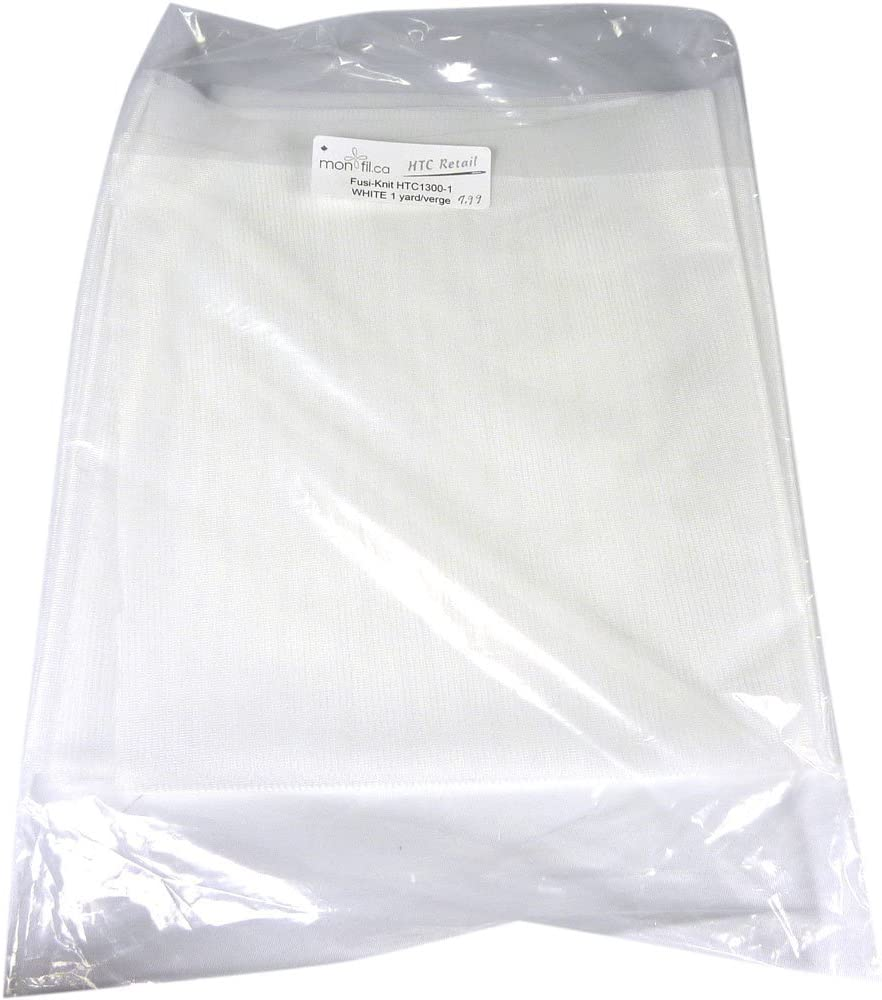 Fusible Tricot Interfacing sold in 5 yard package 20 inches wide Fusi-Knit White HTC1300-1