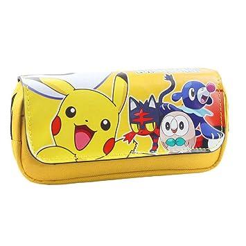 Neceseres Pikachu doble funda de lápices con cremallera ...