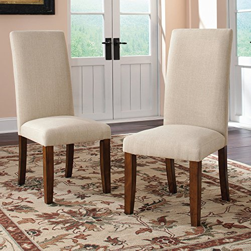 sauder-415419-washington-cherry-finish-carson-forge-parsons-chair-2-pack