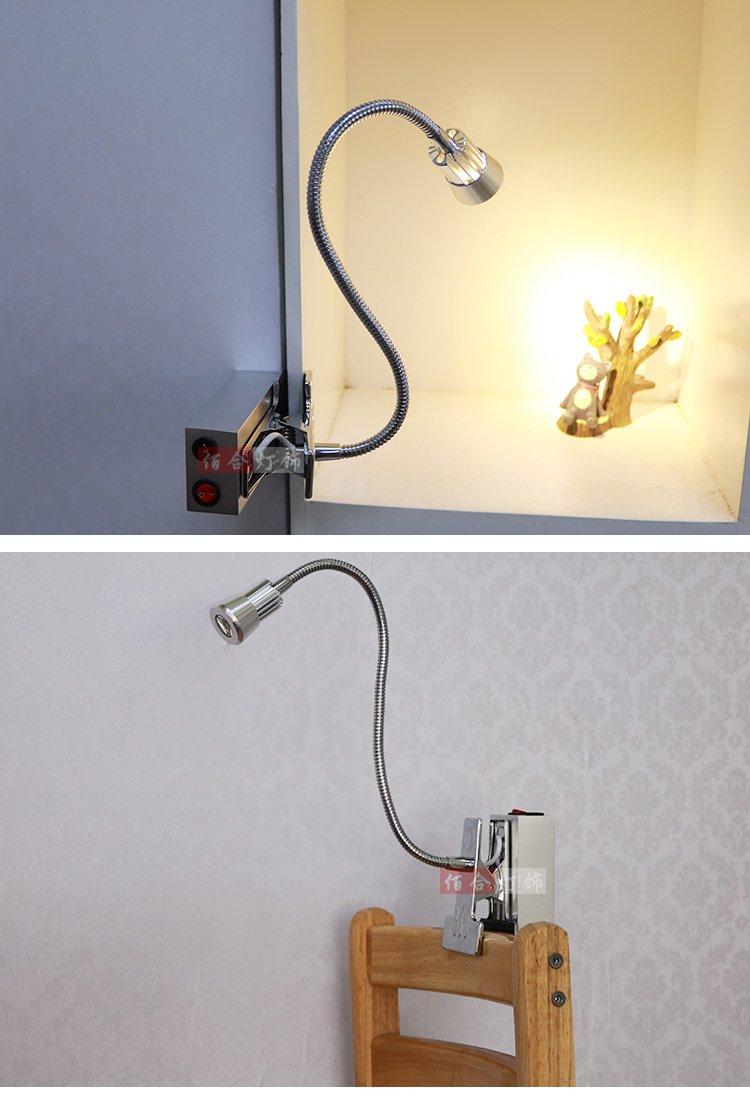 WINZSC Akku Licht LED Spot Beleuchtung R/ückwand Vitrinen Shop Schlafzimmer Studie Super Bright Lights 2/Heads-za sd76/leicht zu entfernen Green Light