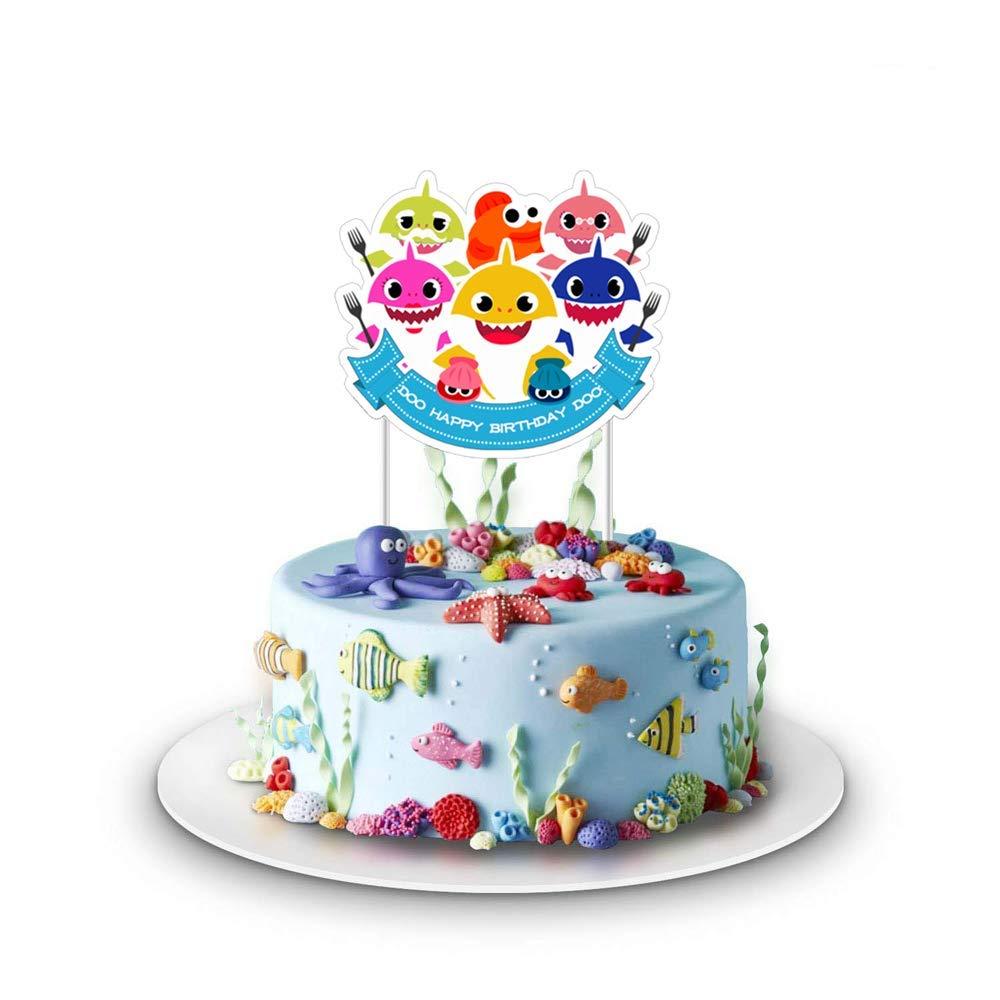 Baby Cute Shark Cake Topper 1st Birthday Cake Topper Shark Cake