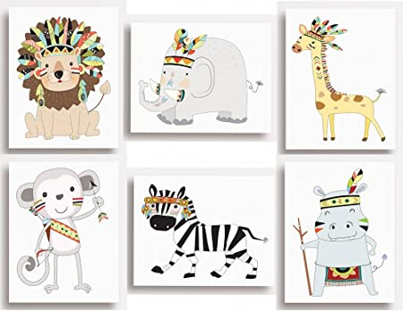 Kids Children/'s Bedroom Safari Animal Zebra Wall Art Picture Cartoon A4 Print