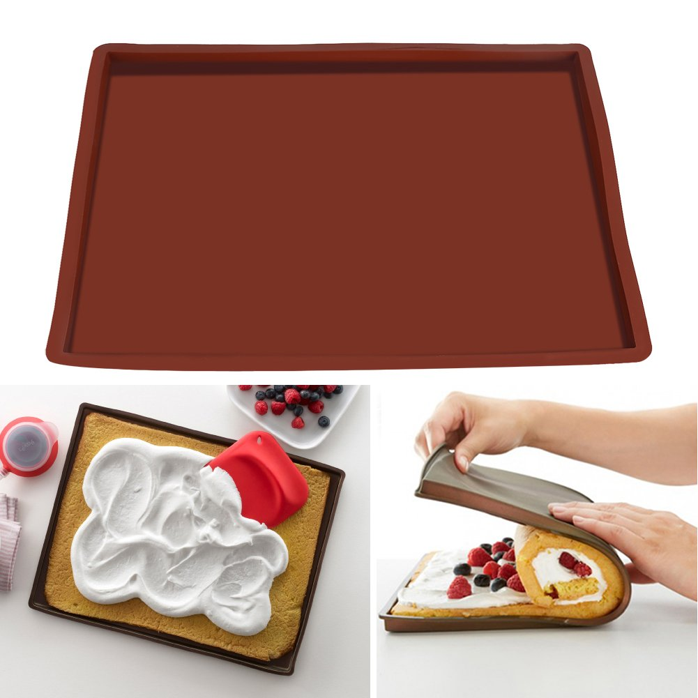 Silicone Baking Mat, Asixx Non-Slip Silicone Pastry Mat Silicone Cake Roll Mat Non-Stick Heat Resistant Oven Baking Tray Sheet