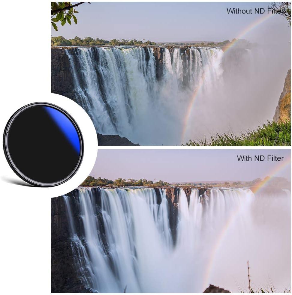 K/&F Concept 52mm ND Filter Slim Variable ND2-ND400 Filter Adjustable Fader Neutral Density Slim Waterproof Optical Glass Lens Filter