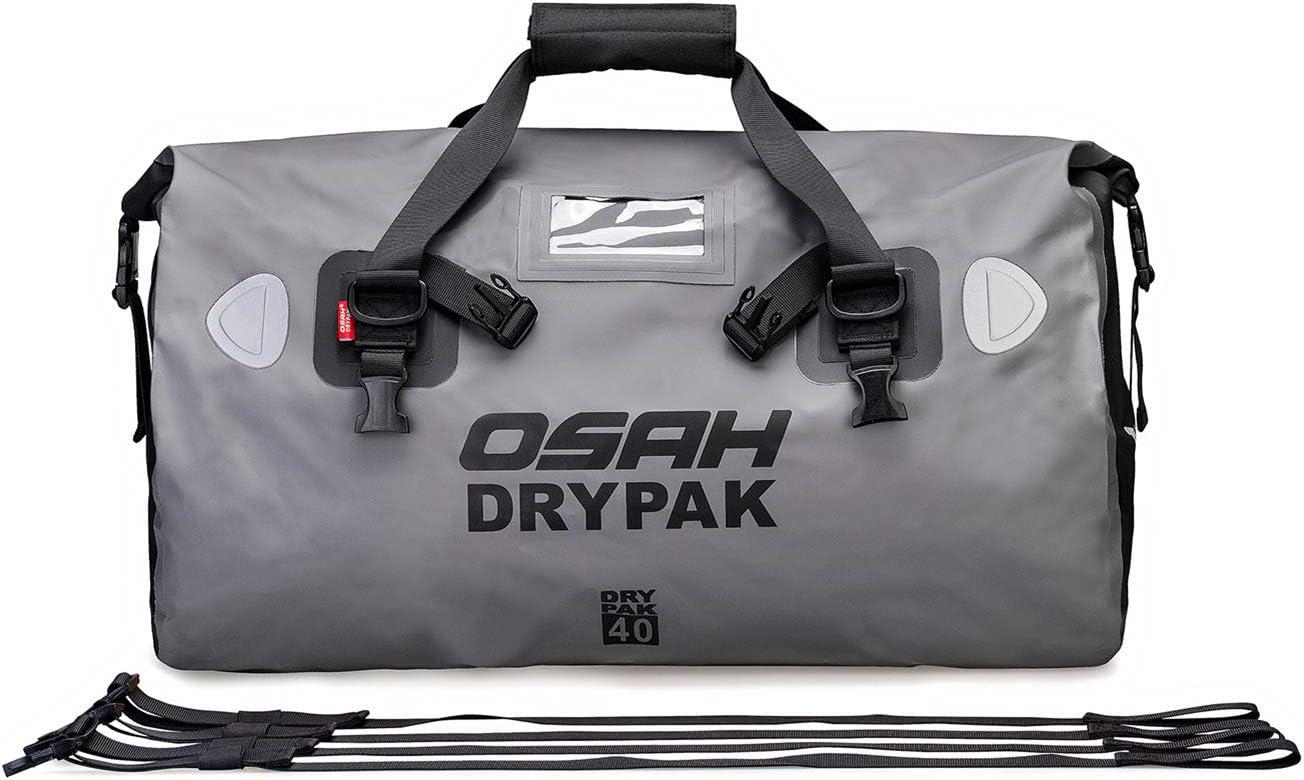 Motorrad Tasche Wasserdicht Reisetasche Sattelrolle Gepäck Tasche Reflektierend Für Motorradfahren Wandern Radfahren Reisen Camping Outdoor Kayaking 40l Grau Auto