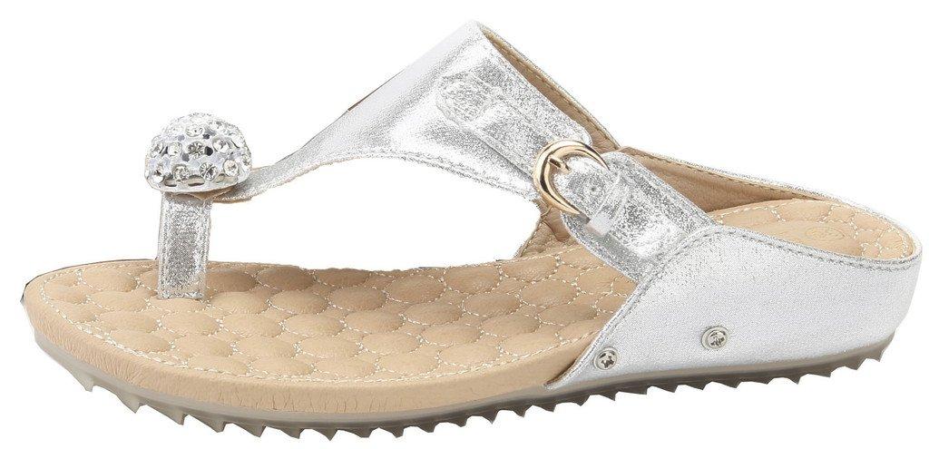 AgeeMi Schuhes Damen Rund Diamant Offener Zehe Flip Flops Diamant Rund Keilabsatz Sandalen Silber PU (EuL09) 47debd