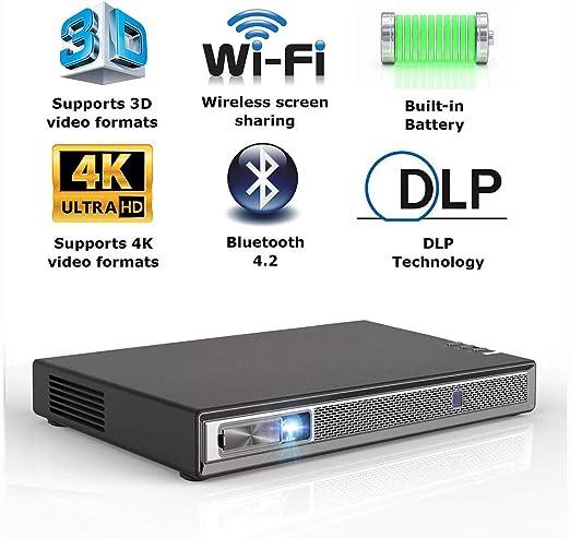 Ai LIFE Mini proyector Video Inteligente 3D DLP-Link portátil para ...