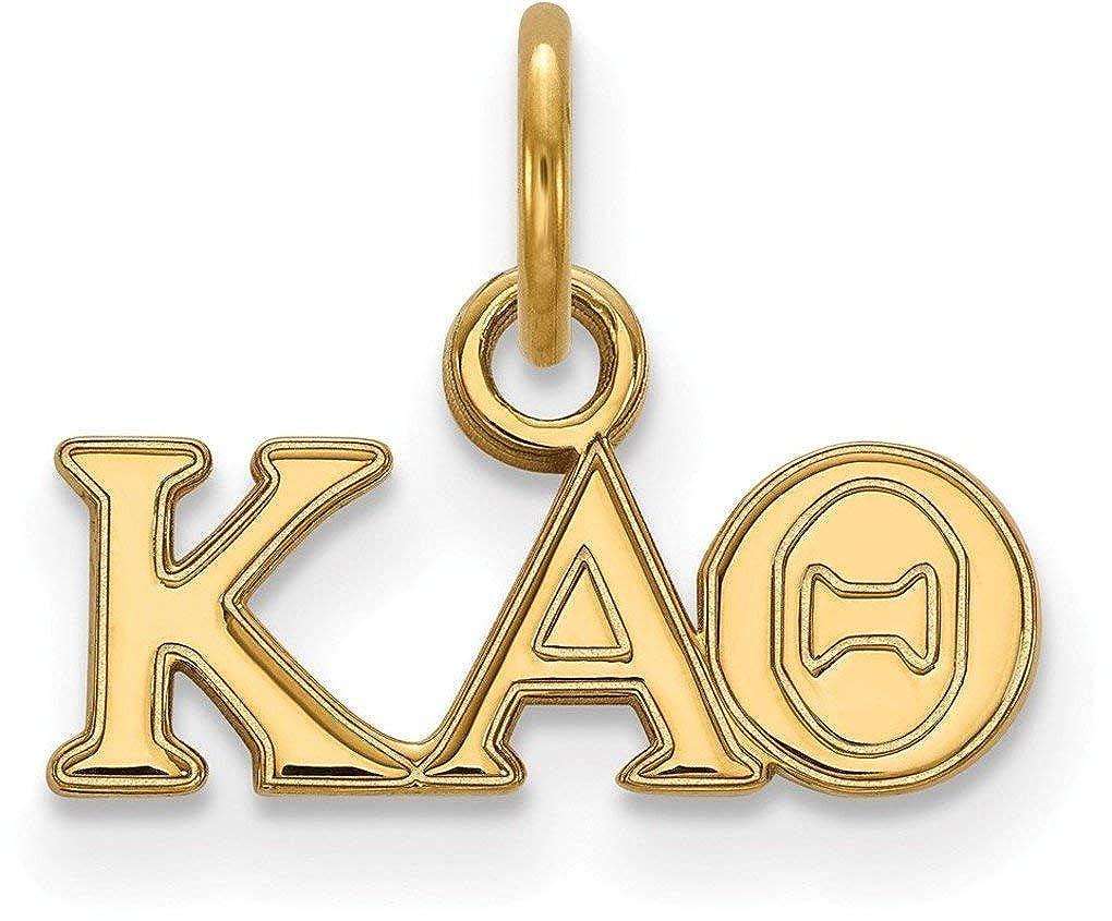 Gold-Plated Sterling Silver Kappa Alpha Theta X-Small Pendant LogoArt GP001KAT