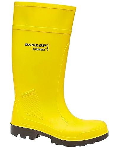 magasin en ligne dernier style de 2019 marque populaire Dunlop , Bottes en caoutchouc homme - Jaune - jaune, 8 UK ...