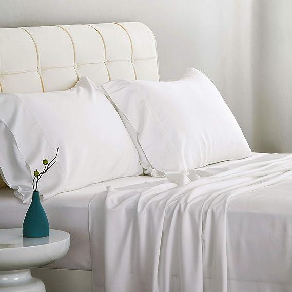 Wrap Around Bed Skirt Three Sides Fabric Elastic Dust Ruffle Satin Fabric Full-XL 15 Deep White S K Homelinen
