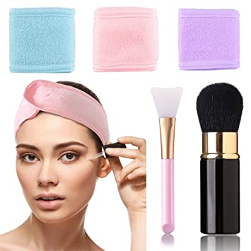 Amazon.com : Spa Facial Headband Make Up Head Wrap Towel ...