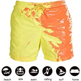 Mainstayae Funny Color Changing Swim Trunks Swimwear Summer Temperature Sensitive Beach Swim Shorts for Boys Children