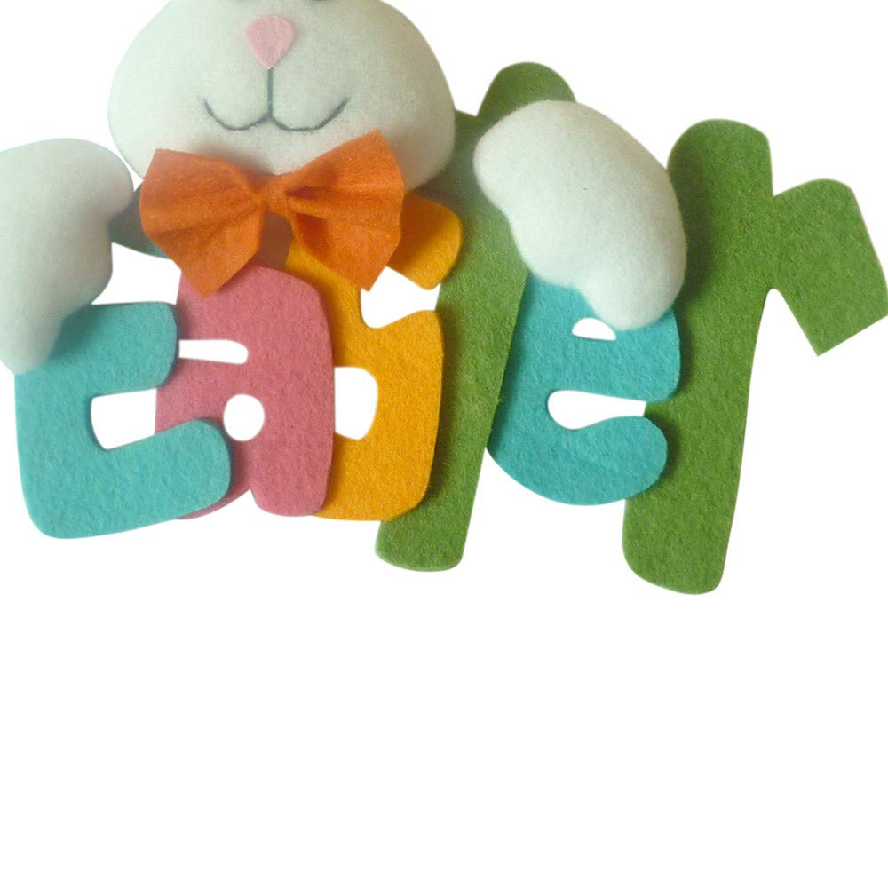 Easter Rabbit Ornaments, Tuscom Cute Bunny Easter Words Party Ornaments Children's Toy Holiday Gift Home Decor (Multicolor)