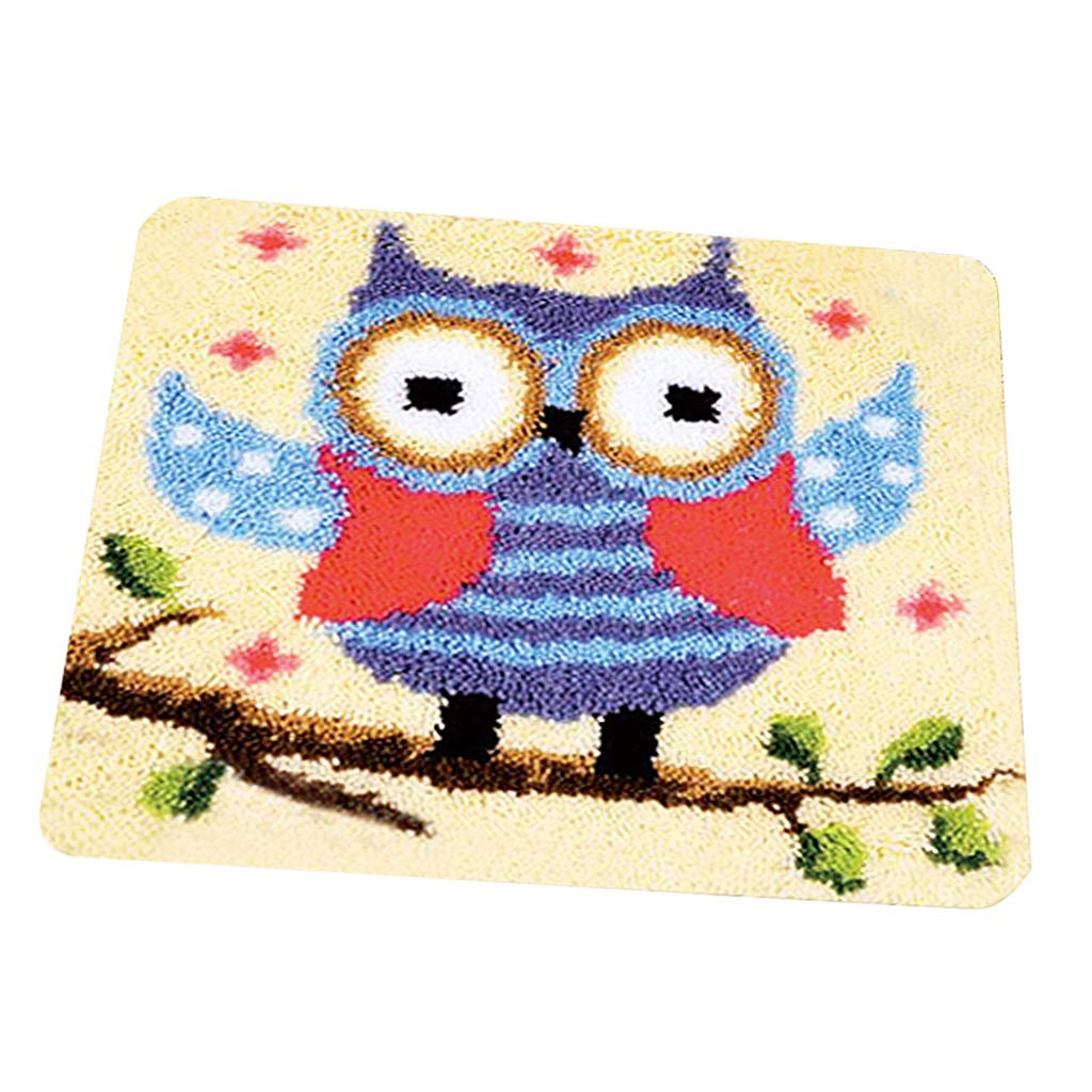 Owl Baosity Latch Hook Kits Rugs DIY Craft Needle Embroidery Rugs for Kids Children