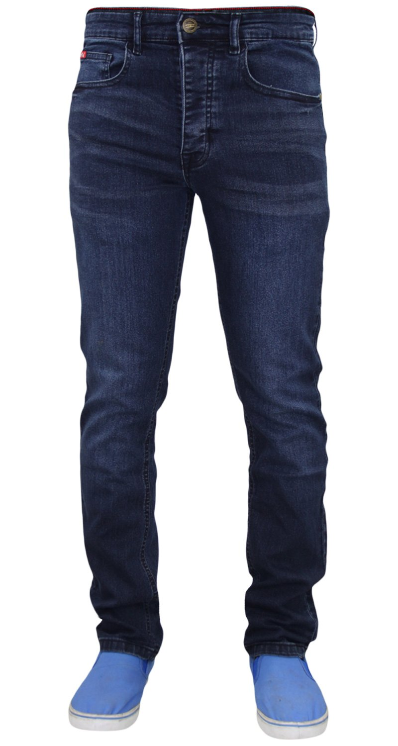 Life & Glory Mens New Life & Glory Basicon Stretch Slim Grey Jeans