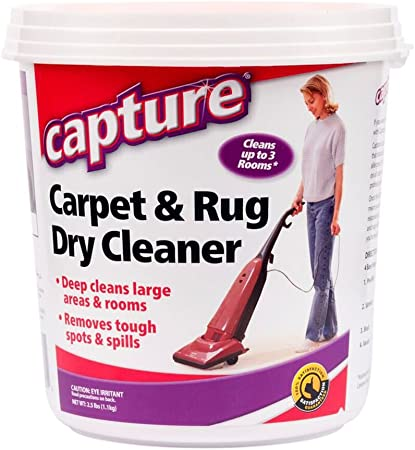 Amazon Com Capture Carpet Dry Cleaner Powder 2 5 Lb Deodorize Stains Smell Moisture From Rug Furniture Clothes And Fabric Pet Stains Odor And Smoke Too Health Personal Care