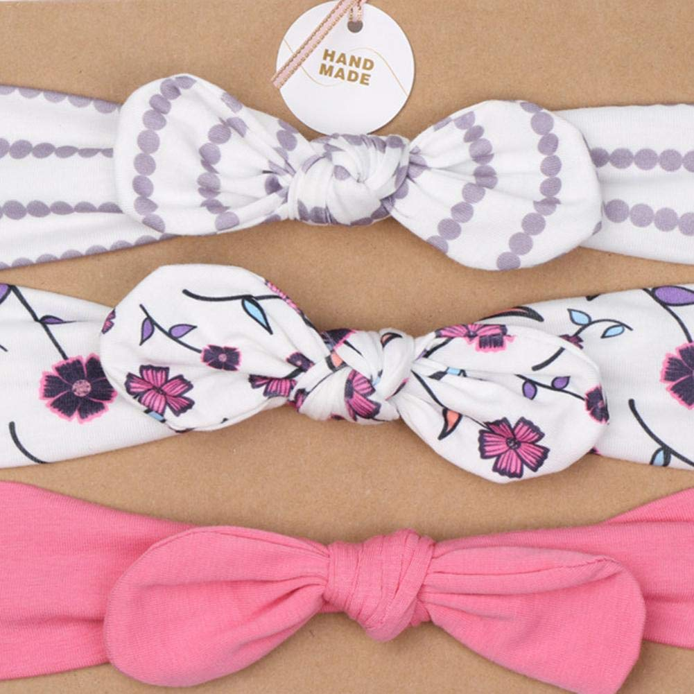 Baby Girls Bow fascia –  3 pz/set cintura elastico Bowknot fascia copricapo per neonati e bambini Auspicious cute dog Kbsin212