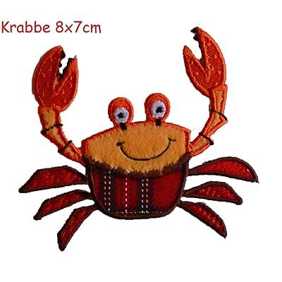 2 badges aufbügler Rustine applications Crabe 8 x 8 cm araignée 11 x 6 cm Kit pour réparer des enfants Vêtements avec design TrickyBoo Zurich Suisse pour l'Allemagne et l'Autriche Cuisine & Maison