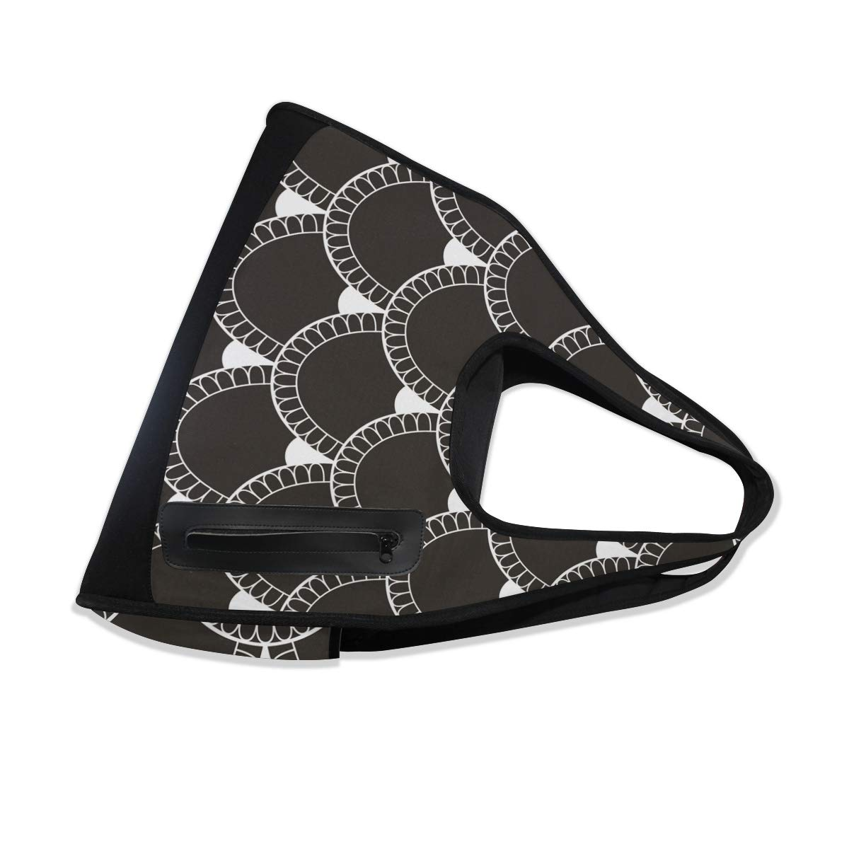 Unisex Travel Duffels Gym Bag Black And White Mermaid Scale Canvas Weekender Bag Shoulder Bag Totes bags