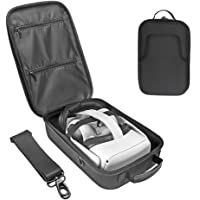 Eyglo Hard Carrying Case for Oculus Quest 2 All-in-one VR Headset Travel Case Shoulder Bag Protective Storage Box (Black…