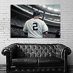 SDK mural #21 Poster Mural Derek Jeter Baseball Sport Athlete 40x60 in (100x150 cm) Adhesive Vinyl