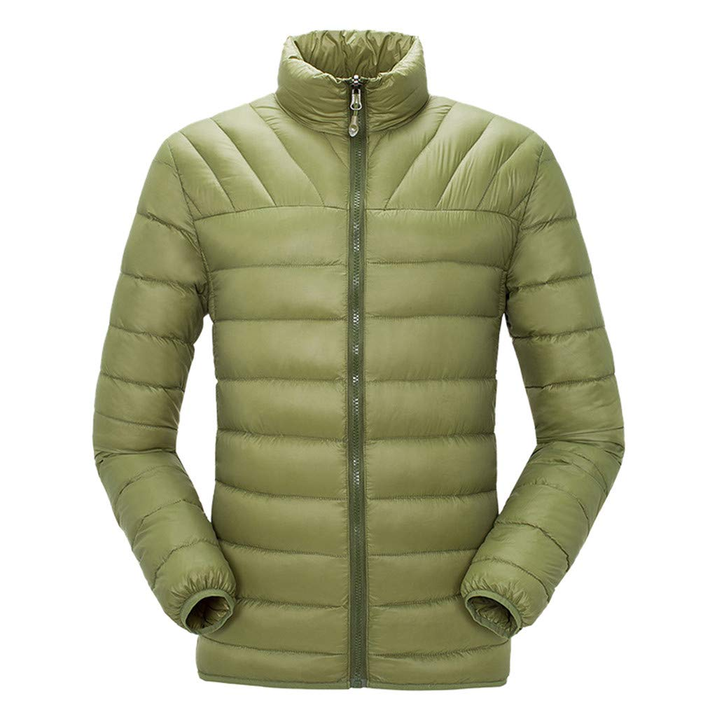 HebeTop  Men's Thermal Jacket Top Coat Falls 590 TurboDown Jacket, Thermal Reflective Warmth Green by HebeTop➟Men's Clothing