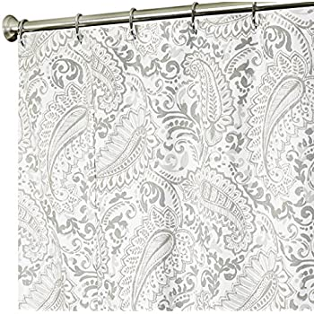 Amazon Com Extra Long Shower Curtain Paisley Fabric
