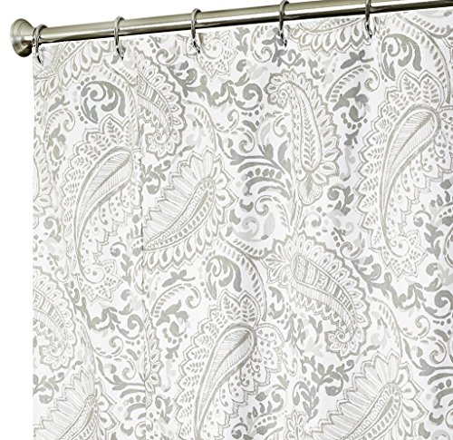 extra long shower curtain paisley fabric shower curtains 96 inch gray 11street malaysia. Black Bedroom Furniture Sets. Home Design Ideas