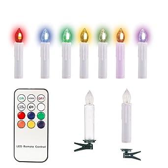 Test Kabellose Weihnachtsbeleuchtung.Ozavo 10 Set Weihnachtskerzen Rgb Weihnachten Kerzen Led Kerzen Mit Fernbedienung Kabellose Weihnachtsbeleuchtung