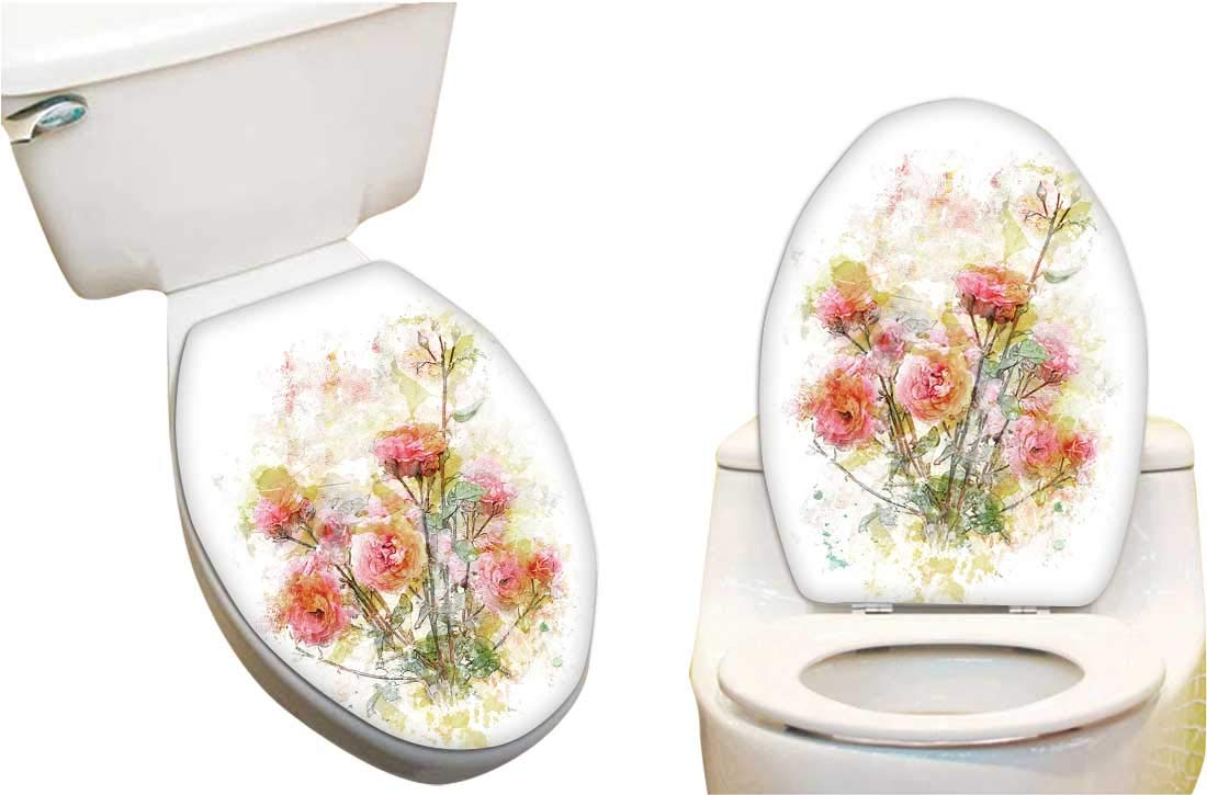 Phenomenal Amazon Com Toilet Seat Sticker Digital Paint Re Poppy Caraccident5 Cool Chair Designs And Ideas Caraccident5Info