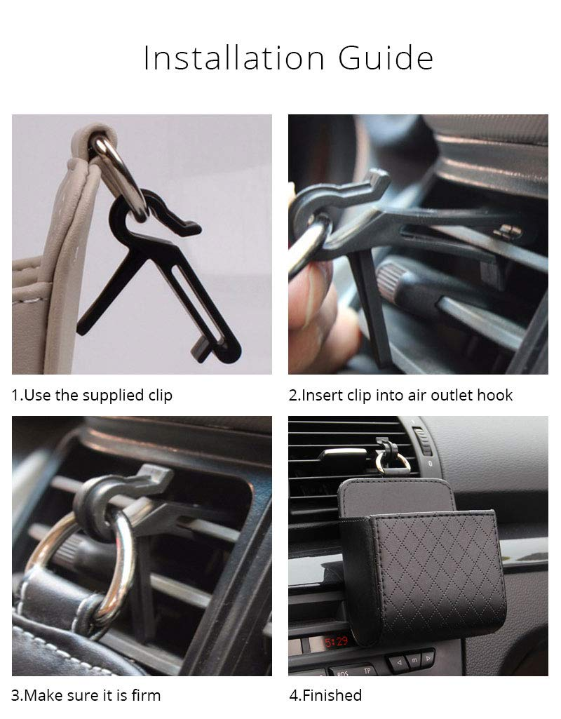 HpyAlwys Car Storage Box Leather Organizer Bag Universal For Phone Coin Card Money Key Holder Hanging in Car Accessories Stowing Tidying
