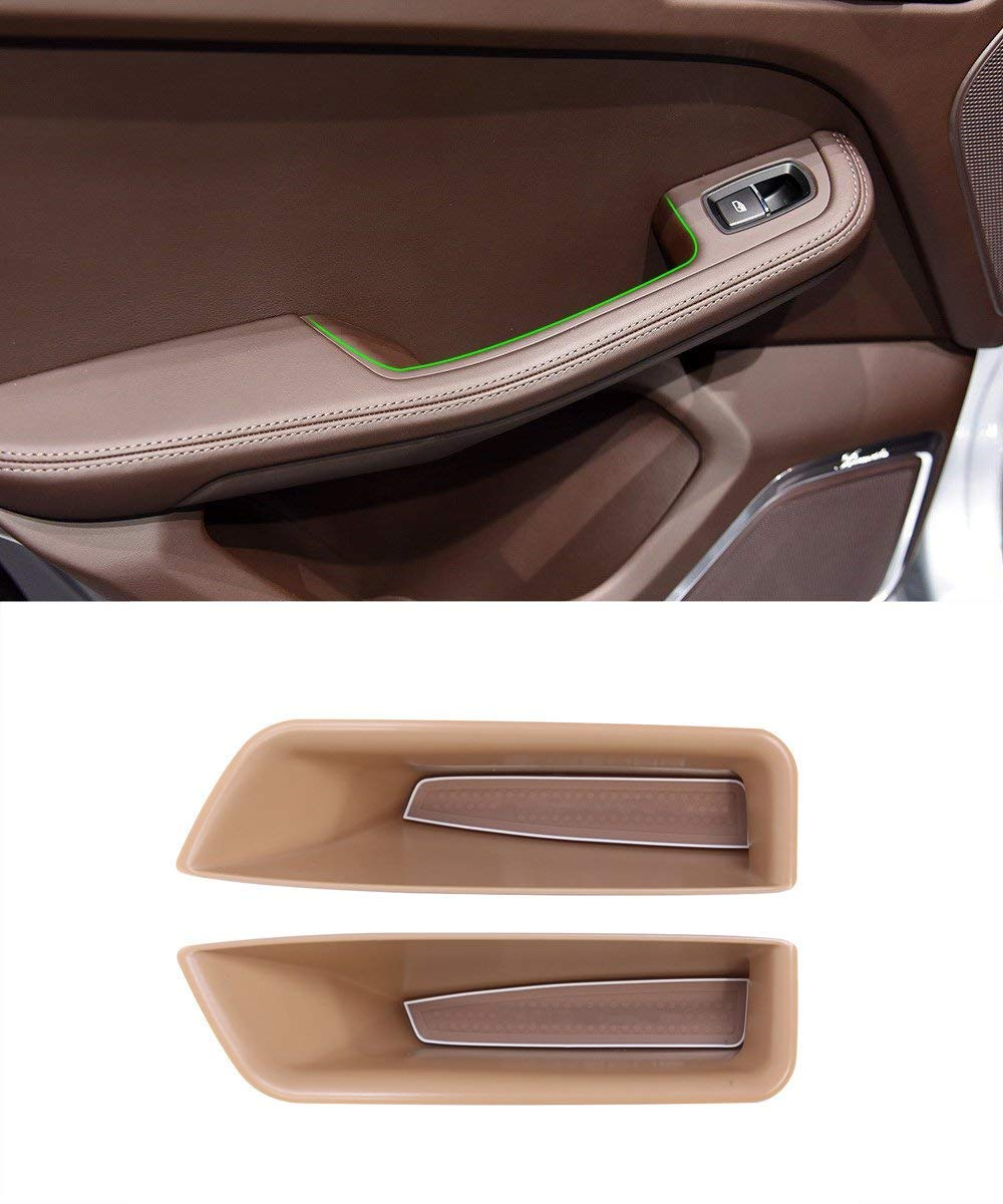 Vano portaoggetti in plastica portaoggetti per telefono portaoggetti per Macan 2014-2017 Porta posteriore nera Auto-broy