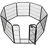 New 32 X 31 8 Panel Heavy Duty Pet Playpen Dog Exercise Pen Cat Fence by Goplus