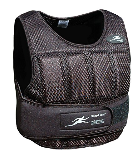 NEW Ironwear Speed Vest Black Breathable Mesh, soft Flex-Metal weights, Super Thin, Professional Athlete Weighted Vest, Made in USA adjustable 1 -11 lbs. supplied at 11 lbs. (SV10B) by Ironwear