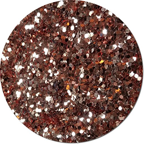 Glitter My World! Jumbo Flake Craft Glitter: 1 lb Jar A Rose Gold by Glitter My World!