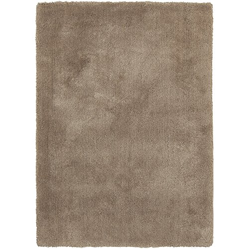 Surya Heaven HEA-8001 Shag Hand Woven 100% Polyester Desert Sand 5' x 7' Area Rug
