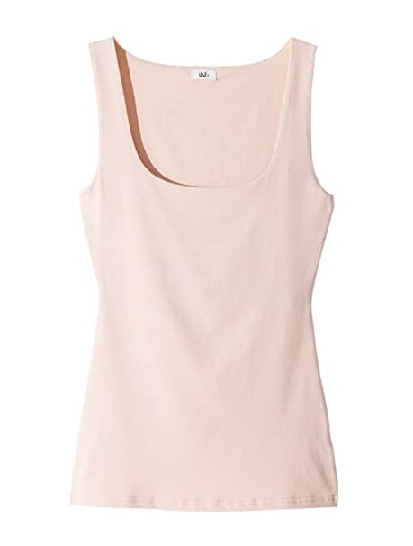 430d238c7d26 Image Unavailable. Image not available for. Color  Sinagage Women Summer  Sexy Solid Cotton Sleeveless Low-Cut Basic T-Shirts Tank Top