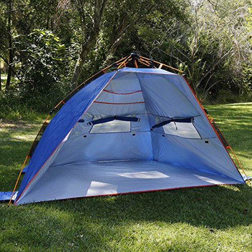 best website 4615f 98e6b Qwest Premium Half-Dome Easy Instant Pop Up Park & Beach 2-Person Sun  Shelter Tent, Anti-UV Waterproof Windproof Lightweight, Sets Up in Seconds