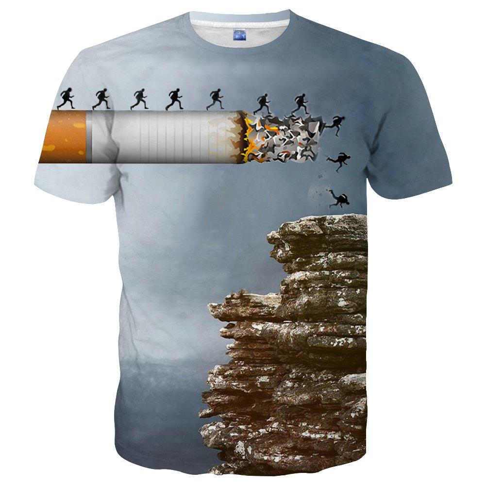 Hgvoetty Unisex Stylish Casual Design 3d Printed Short Sleeve Men T