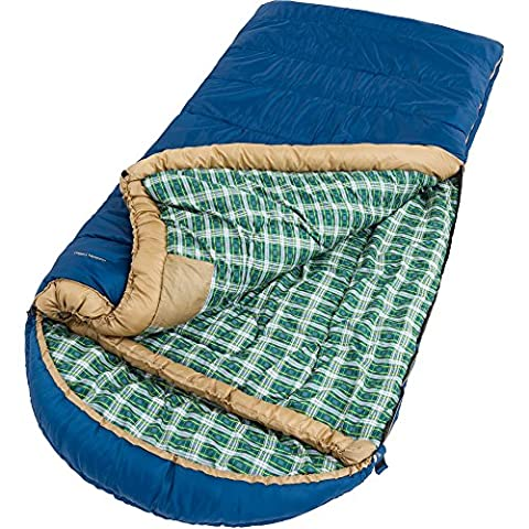 Ozark Trail Extra-Large Adjustable Blue Sleeping Bag with Detachable Hood (Baby Mammoth Mummy)