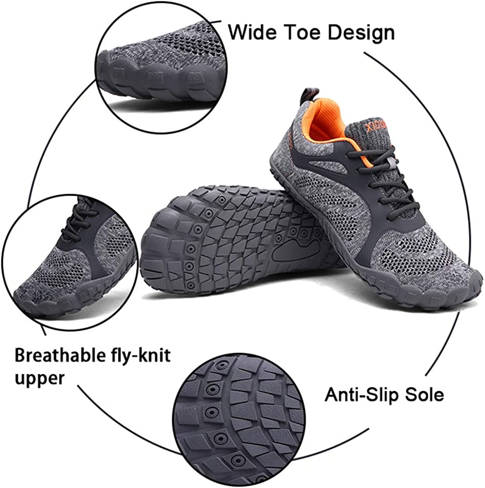 XIDISO Womens Mens Barefoot Shoes/Minimalist Wide Toe Box Cross/Training Shoe
